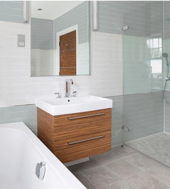 ceramic tile bathroom installation