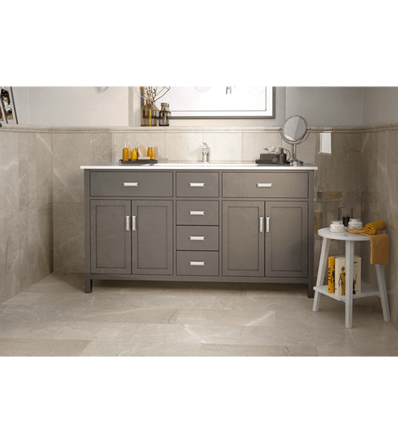 Grey porcelain bathroom